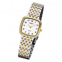 Regent Damen-Armbanduhr F-1049 Quarz-Uhr Stahl-Armband silber gold URF1049