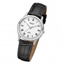 Regent Damen-Armbanduhr 32-F-1072 Quarz-Uhr Leder-Armband schwarz URF1072