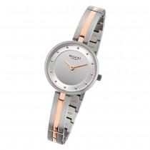 Regent Damen-Armbanduhr 32-F-1101 Quarz-Uhr Titan-Armband silber rosegold URF1101