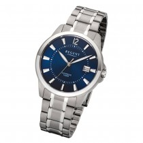 Regent Herren-Armbanduhr 32-F-1111 Quarz-Uhr Titan-Armband silber grau URF1111