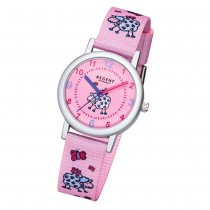 Regent Kinder-Armbanduhr 32-F-1135 Quarz-Uhr Textil, Stoff-Armband rosa pink URF URF1135