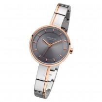 Regent Damen Armbanduhr Analog F-1151 Quarz-Uhr Metall silber rosegold URF1151