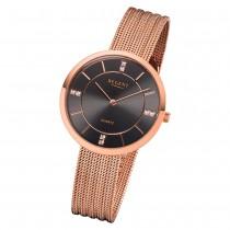 Regent Damen Armbanduhr Analog F-1157 Quarz-Uhr Metall rosegold URF1157