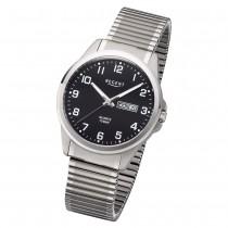 Regent Herren Armbanduhr Analog F-1199 Quarz-Uhr Metall silber URF1199