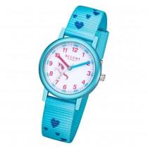 Regent Kinder Armbanduhr Analog F-1208 Quarz-Uhr Textil blau URF1208