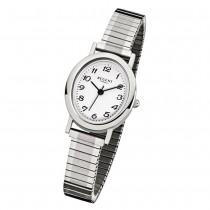Regent Damen-Armbanduhr F-266 Quarz-Uhr Stahl-Armband silber URF266