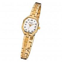 Regent Damen-Armbanduhr F-305 Quarz-Uhr Stahl-Armband gold URF305