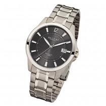 Regent Herren-Armbanduhr F-555 Quarz-Uhr Titan-Armband silber URF555