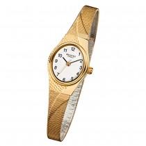 Regent Damen-Armbanduhr F-622 Quarz-Uhr Stahl-Armband gold URF622