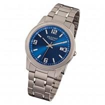Regent Herren-Armbanduhr Mineralglas Quarz Titan (Metall) grau silber URF840
