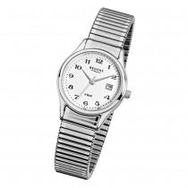 Regent Damen, Herren-Armbanduhr F-893 Quarz-Uhr Stahl-Armband silber URF893