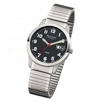 Regent Herren-Armbanduhr F-895 Quarz-Uhr Stahl-Armband silber URF895