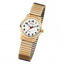 Regent Damen-Armbanduhr F-896 Quarz-Uhr Stahl-Armband gold URF896