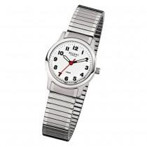 Regent Damen-Armbanduhr F-898 Quarz-Uhr Stahl-Armband silber URF898
