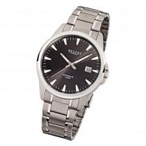 Regent Herren-Armbanduhr F-924 Quarz-Uhr Titan-Armband silber URF924