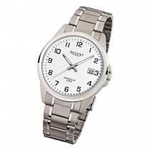 Regent Herren-Armbanduhr F-925 Quarz-Uhr Titan-Armband silber URF925