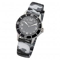 Regent Kinder-Armbanduhr Quarz Textil grau schwarz camouflage Jungen Uhr URF941