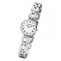 Regent Damen-Armbanduhr F-965 Quarz-Uhr Mini Stahl-Armband silber URF965