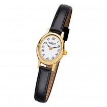 Regent Damen-Armbanduhr F-977 Quarz-Uhr Mini Leder-Armband schwarz URF977
