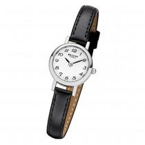 Regent Damen-Armbanduhr F-979 Quarz-Uhr Mini Leder-Armband schwarz URF979