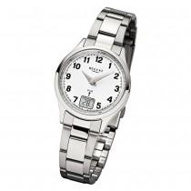 Regent Damen-Armbanduhr 32-FR-193 Funkuhr Edelstahl-Armband silber URFR193