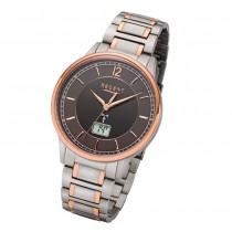 Regent Armbanduhr Analog Digital FR-252 Funk-Uhr Titan silber rosegold URFR252