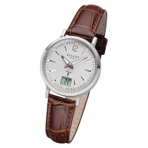 Regent Damen Armbanduhr Analog-Digital FR-256 Funk-Uhr Leder braun URFR256