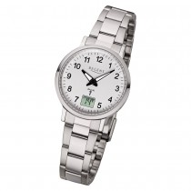 Regent Damen Armbanduhr Analog-Digital FR-260 Funk-Uhr Metall silber URFR260