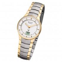 Regent Armbanduhr Analog Digital FR-261 Funk-Uhr Metall gold silber URFR261
