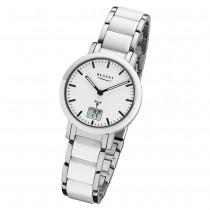 Regent Armbanduhr Analog Digital FR-264 Funk-Uhr Metall weiß silber URFR264