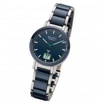 Regent Armbanduhr Analog Digital FR-265 Funk-Uhr Metall blau silber URFR265