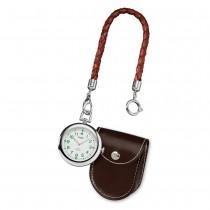 Regent Taschenuhr Herren P-39 Quarz-Uhr mit Lederkette und Ledertäschchen URP039