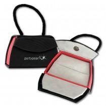 PartyPearl Schmuck-Tasche Ohrring Ketten Schmuckschachtel 90x55mm VE241