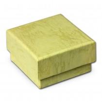 SD Schmuckschachtel ocker Geschenk-Verpackung 40x40x25mm Etui VE3042N