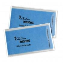 SilberDream Imppac 2Stück Schmuck Reinigungstücher blau Poliertuch ZAP137B2
