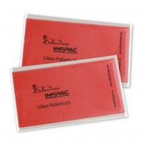 SilberDream Imppac 2Stück Schmuck Reinigungstücher rot Poliertuch ZAP137R2