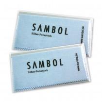 SilberDream Sambol 2Stück Set Schmuck Reinigungstücher Poliertuch ZAP1382