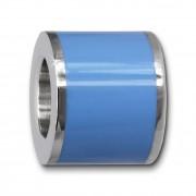 Amello Megabeads Edelstahl Bead Emaille blau Armbandbead AMB028H
