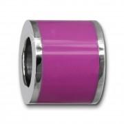 Amello Megabeads Edelstahl Bead Emaille pink Armbandbead AMB028V