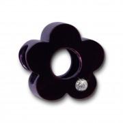 Amello Megabeads Stahl Blume lila Swarovski Elements Armband AMZ059V