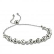 Armäleon Damenarmband Komplettset Kugel Design+Verschluss 925 Silber ARS006J