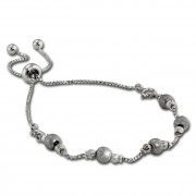 Armäleon Damenarmband Komplettset Kugel Design+Verschluss 925 Silber ARS008J