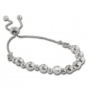 Armäleon Damenarmband Komplettset Kugel Design+Verschluss 925 Silber ARS013J