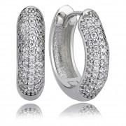 Balia Creolen für Damen glänzend Zirkonia aus 925 Silber BAO0003SW