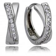 Balia Creolen für Damen glänzend Zirkonia aus 925 Silber BAO0005SW