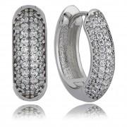 Balia Creolen für Damen glänzend Zirkonia aus 925 Silber BAO0007SW