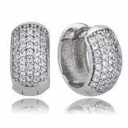 Balia Creolen für Damen glänzend Zirkonia aus 925er Silber BAO0016SW