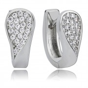 Balia Creolen für Damen glänzend Zirkonia aus 925er Silber BAO0023SW