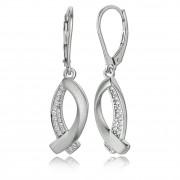 Balia Ohrhänger für Damen matt Zirkonia 925er Silber BAO0027SW