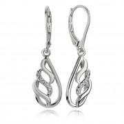 Balia Ohrhänger für Damen glanz Zirkonia 925er Silber BAO0028SW
